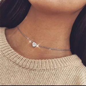 Jewelry - Delilah Crystal Heart Choker